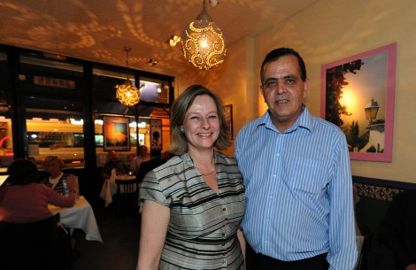 Frances and Abdel Boukraa, owners and hosts of Adams Cafe