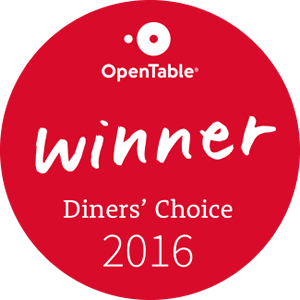 Adams Cafe - winner of Open Table Diners Choice Award 2016