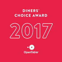 Adams Cafe - winner of Open Table Diners Choice Award 2017